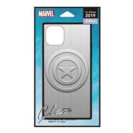 PGA iPhone 11 Pro Max 6.5インチ 用 ガラスハイブリッドケース PG-DGT19C15CTA キャプテン・アメリカ/シルバー
