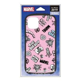PGA iPhone 11 Pro Max 6.5インチ 用 ハイブリッドタフケース PG-DPT19C12AVG アベンジャーズ/ピンク