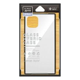 PGA iPhone 11 Pro Max 6.5インチ 用 ガラスハイブリッドケース PG-19CGT02WH ホワイト