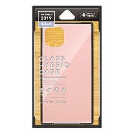 PGA iPhone 11 Pro Max 6.5インチ 用 ガラスハイブリッドケース PG-19CGT03PK ピンク
