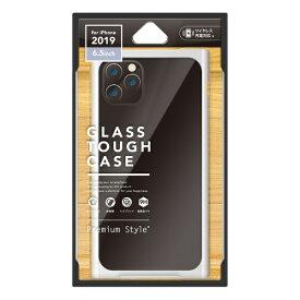PGA iPhone 11 Pro Max 6.5インチ 用 クリアガラスタフケース スクエア型 PG-19CGT11WH ホワイト