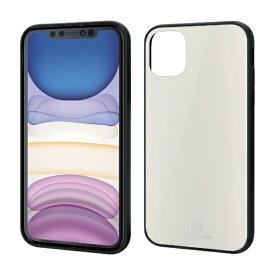 エレコム ELECOM iPhone 11 6.1インチ対応 ハイブリッドケース ガラス 背面カラー ホワイト PM-A19CHVCG3WH