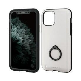 エレコム ELECOM iPhone 11 Pro 5.8インチ対応 TOUGH SLIM リング付 ホワイト PM-A19BTSRWH