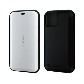 エレコム ELECOM iPhone 11 Pro 5.8インチ対応 TOUGH SLIM シェルフラップ ホワイト PM-A19BTSSWH