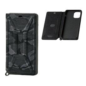 エレコム ELECOM iPhone 11 Pro 5.8インチ対応 ZEROSHOCK フラップ カモフラ(ブラック) PM-A19BZEROFT1