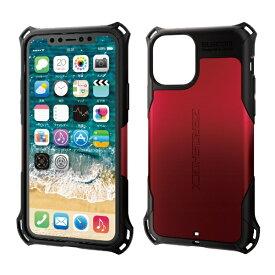 エレコム ELECOM iPhone 11 Pro 5.8インチ対応 ZEROSHOCK スタンダード レッド PM-A19BZERORD