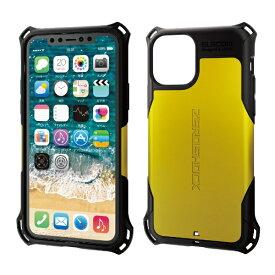 エレコム ELECOM iPhone 11 Pro 5.8インチ対応 ZEROSHOCK スタンダード イエロー PM-A19BZEROYL