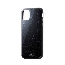 エレコム ELECOM iPhone 11 6.1インチ対応 ハイブリッドケース ガラス エンボス クロコダイル PM-A19CHVCG8D1