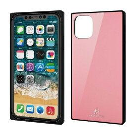 エレコム ELECOM iPhone 11 6.1インチ対応 ハイブリッドケース ガラス スクエア 背面カラー ピンク PM-A19CHVCGS1PN