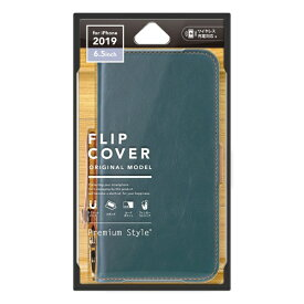 PGA iPhone 11 Pro Max 6.5インチ 用 フリップカバー PUレザーダメージ加工 PG-19CFP01BL ブルー