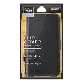 PGA iPhone 11 Pro Max 6.5インチ 用 フリップカバー PUレザーダメージ加工 PG-19CFP02BK ブラック
