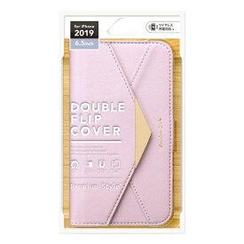 PGA iPhone 11 Pro Max 6.5インチ 用 ダブルフリップカバー レター型 PG-19CFP05PP パープル