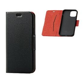 エレコム ELECOM iPhone 11 Pro 5.8インチ対応 ソフトレザーケース 磁石付 薄型 ブラック PM-A19BPLFUBK