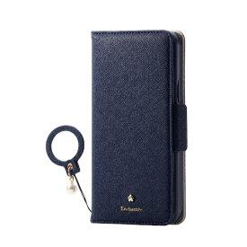 エレコム ELECOM iPhone 11 Pro 5.8インチ対応 ソフトレザーケース 女子向 リング付 磁石付 ネイビー PM-A19BPLFJM2NV