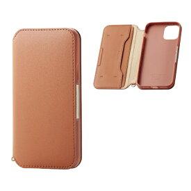 エレコム ELECOM iPhone 11 Pro 5.8インチ対応 ソフトレザーケース 磁石付 ブラウン PM-A19BPLFY2BR