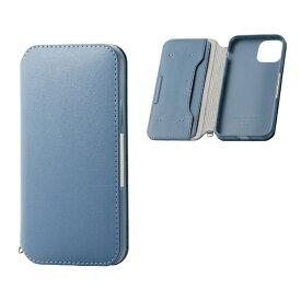 エレコム ELECOM iPhone 11 Pro 5.8インチ対応 ソフトレザーケース 磁石付 ブルー PM-A19BPLFY2BU