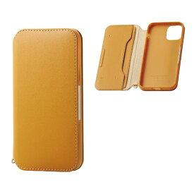 エレコム ELECOM iPhone 11 Pro 5.8インチ対応 ソフトレザーケース 磁石付 キャメル PM-A19BPLFY2CL