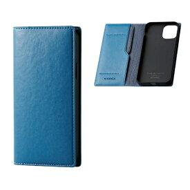 エレコム ELECOM iPhone 11 Pro 5.8インチ対応 ソフトレザーケース イタリアン(Coronet) フレンチブルー PM-A19BPLFYILBU