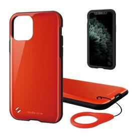 エレコム ELECOM iPhone 11 Pro 5.8インチ対応 TOUGH SLIM2 レッド PM-A19BTS2RD