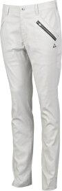 ルコック le coq メンズ ゴルフパンツ ストレッチミニグリッドシャンブレーロングパンツ(82サイズ/ホワイト) QGMOJD03