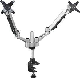 キングジム KING JIM モニターアーム [2画面 /〜30インチ] 垂直タイプ クランプ式 ARM220 シルバー