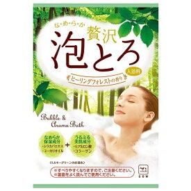 牛乳石鹸 お湯物語贅沢泡とろ入浴料ヒーリングフォレストの香り(30g)
