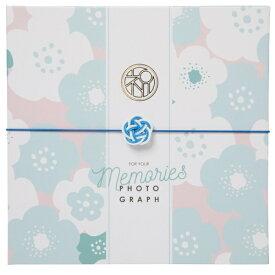 チクマ Chikuma お祝い写真台紙V-700(祝) 6切2面 ブルー 15541-6 ブルー
