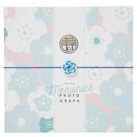 チクマ Chikuma 寿写真台紙V-700(寿) 6切2面 ブルー 15544-7 ブルー [タテヨコ兼用 /六切サイズ /2面]