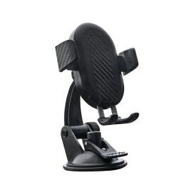 OWLTECH オウルテック 車載用ワイヤレス充電スマートフォンホルダー USB Type-C入力 Qi10W充電 OWL-CHQI01-BK ブラック