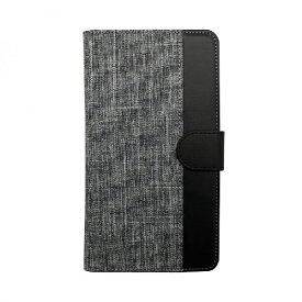 OWLTECH オウルテック 大型スマートフォン対応 ホルダータイプ ファブリック生地×PUレザー 手帳型 マルチケース OWL-CVMUL01-GYBK グレーxブラック