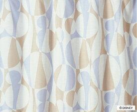 スミノエ SUMINOE レースカーテン ミッキー/シルエットウェーブ(100×198cm/ベージュ)