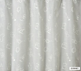 スミノエ SUMINOE レースカーテン ミッキー/アクセサリー(100×176cm/ホワイト)