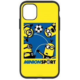 グルマンディーズ gourmandise 怪盗グルーシリーズ/ミニオンズ IIII fit iPhone 11 6.1インチ/iPhoneXR 対応ケース サッカー MINI-176B