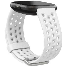 Fitbit フィットビット Fitbit Versaシリーズ専用 スポーツバンド Frost White Sサイズ FB171SBWTS フロストホワイト[FB171SBWTS]