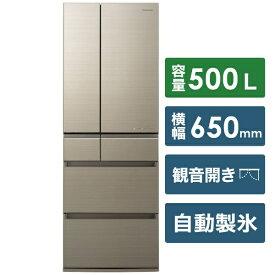 パナソニック Panasonic 《基本設置料金セット》NR-F505HPX-N 冷蔵庫 HPXタイプ アルベロゴールド [6ドア /観音開きタイプ /500L][冷蔵庫 大型 NRF505HPX_N]【zero_emi】