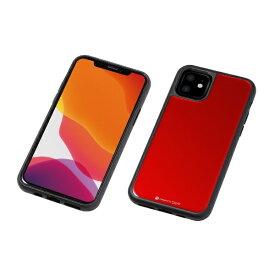 DEFF ディーフ iPhone 11 6.1インチ 用 HYBRID CASE Etanze 化学強化ガラス&TPU複合素材ケース レッド BKS-IPE19MMRD