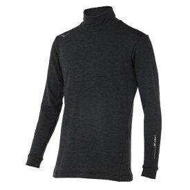 ミズノ mizuno ゴルフウェア バイオネクストハイネック長袖シャツ ストレッチフリース メンズ(Lサイズ/ブラック) 52MJ9502