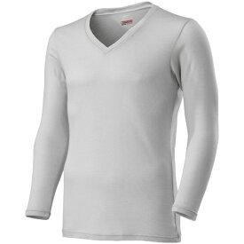 ミズノ mizuno メンズ ブレスサーモ BREATH THERMO アンダーウエアプラスVネック長袖シャツ(Lサイズ/ベイパーシルバー) C2JA9641