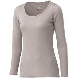 ミズノ レディース ブレスサーモ BREATH THERMO アンダーウエアプラスラウンドネック長袖シャツ(Mサイズ/グレージュ) C2JA9841
