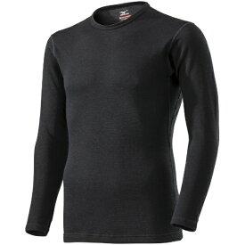 ミズノ mizuno メンズ ブレスサーモ BREATH THERMO アンダーウエアEXプラスクルーネック長袖シャツ(Lサイズ/ブラック) C2JA9614