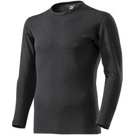 ミズノ mizuno メンズ ブレスサーモ BREATH THERMO アンダーウエアEXクルーネック長袖シャツ(Mサイズ/ブラック) C2JA9609