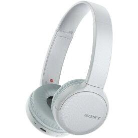 ソニー SONY ブルートゥースヘッドホン ホワイト WH-CH510 WZ [リモコン・マイク対応 /Bluetooth][ワイヤレスヘッドホン WHCH510WZ]