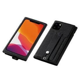 DEFF ディーフ iPhone 11 Pro Max 6.5インチ 用 高級PUレザーケース<Clings> ブラック DCS-IPC19LPUBK