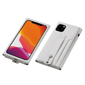 DEFF ディーフ iPhone 11 Pro Max 6.5インチ 用 高級PUレザーケース<Clings> ホワイト DCS-IPC19LPUWH