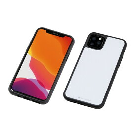 DEFF ディーフ iPhone 11 Pro 5.8インチ用 HYBRID CASE Etanze 化学強化ガラス&TPU複合素材ケース ホワイト BKS-IPE19SMWH