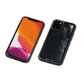 DEFF ディーフ iPhone 11 Pro 5.8インチ用 HYBRID CASE Etanze 化学強化ガラス&TPU複合素材ケース 星空ブラック BKS-IPE19SSBK