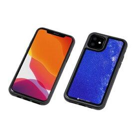 DEFF ディーフ iPhone 11 6.1インチ 用 HYBRID CASE Etanze 化学強化ガラス&TPU複合素材ケース 星空ブルー BKS-IPE19MSBU