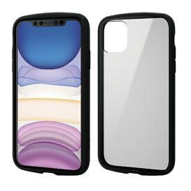 エレコム ELECOM iPhone 11 6.1インチ対応 TOUGH SLIM LITE フレームカラー ブラック PM-A19CTSLFCBK