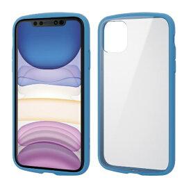 エレコム ELECOM iPhone 11 6.1インチ対応 TOUGH SLIM LITE フレームカラー ブルー PM-A19CTSLFCBU