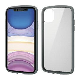 エレコム ELECOM iPhone 11 6.1インチ対応 TOUGH SLIM LITE フレームカラー グレー PM-A19CTSLFCGY